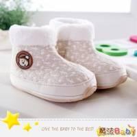 魔法Baby~【KUKI酷奇】聖誕小熊俏雪靴寶寶鞋 學步鞋 杏 ~時尚設計童鞋~sh1269