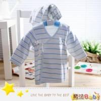 魔法Baby~台灣製造厚款內著-條紋冬季肚衣套裝 男 ~嬰幼兒~時尚設計童裝~k01832_b