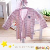 魔法Baby~台灣製造厚款內著-條紋冬季肚衣套裝 女 ~嬰幼兒~時尚設計童裝~k01832_p