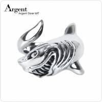 【ARGENT銀飾】動物系列「 惡鯊」 純銀戒指 染黑款