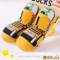 魔法Baby~日本製造寶寶防滑超Q棉襪 青蛙黃賽車 ~嬰幼兒用品~時尚設計~k03393_5