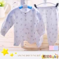 魔法Baby~台灣製造純棉包紗布前開衫套裝 藍 粉 ~套裝~男女童裝~時尚設計童裝~k26016