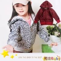 魔法Baby~紅豹紋圈圈拼布手肘連帽外套~DODOMO系列~時尚設計童裝~k26122