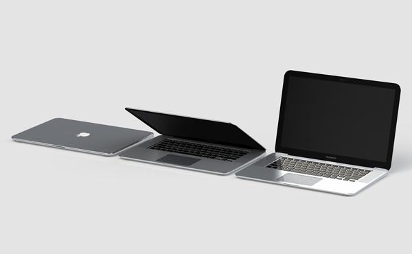 MacBook驚人新設計: 雙面螢幕, 後面再加太陽能和觸控感應