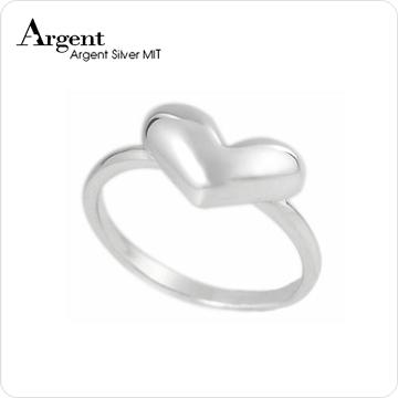 《ARGENT銀飾》愛心造型系列「桃心」純銀戒指(單只價)
