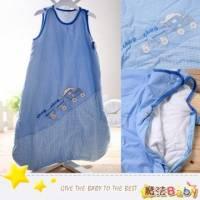 魔法Baby~厚款鋪棉寶寶防踢睡袋 藍 火車 ~嬰幼兒用品~時尚設計~k00927_c