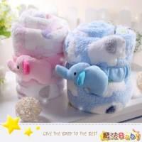 魔法Baby~柔舒絨寶寶雙胞象毛毯 粉.藍 ~嬰幼兒用品~時尚設計~k26269
