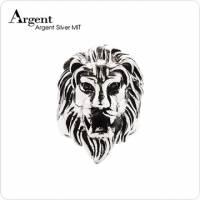 【ARGENT銀飾】動物系列「獅子王」純銀戒指 染黑款