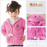 魔法Baby~日系厚款珊瑚絨連帽外套~外套~女童裝~時尚設計童裝~k26276