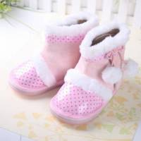 魔法Baby KUKI 酷奇時尚俏皮球球短靴☆女童鞋☆s3269~粉時尚設計童鞋