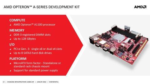 AMD 於開放運算高峰會發表 ARM 架構 Opteron A1100 處理器與開發平台