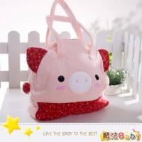 魔法Baby~日本風絨布拼接手提包 大粉紅豬 ~雜貨小品~時尚設計~f0108