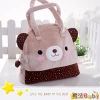 魔法Baby~日本風絨布拼接手提包 小卡其熊 ~雜貨小品~時尚設計~f0109