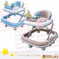 魔法Baby~豪華靜音避震學步車 藍.卡其兩款 ~嬰幼兒用品~tb600