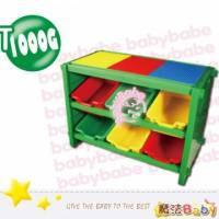 魔法Baby~台灣製造積木收納架 綠 ~嬰幼兒用品~遊戲益智用品~t1000g