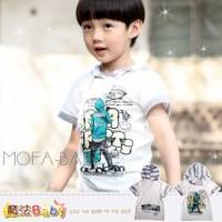 魔法Baby~西門町街頭潮型男條紋連帽短T 襯衫 上衣 T恤~DODOMO品牌系列~男童裝~男女童裝