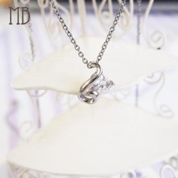 【MB流行鋼飾】愛心系列「心扉」白鋼項鍊