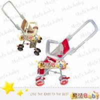 魔法Baby~台灣製造透氣布兩用機車椅手推車 紅.咖共兩色 ~嬰幼兒用品~戶外居家用品~RKC529