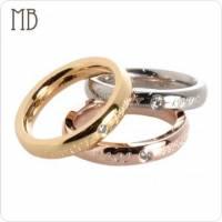 【MB流行鋼飾】尾戒系列「時尚永恆 銀色 玫瑰金 黃K金 3色各1 」白鋼戒指 3只價