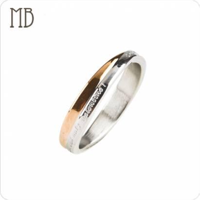 【MB流行鋼飾】情人對戒系列-女戒「戀愛天使」白鋼戒指