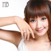【MB流行鋼飾】情人對戒系列-女戒「心心相印」白鋼戒指