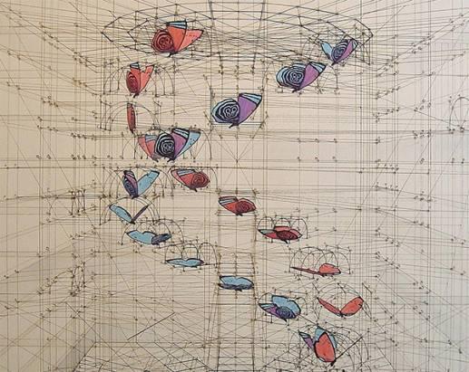 完全不用電腦!單靠雙手畫出的精密自然數學分解圖