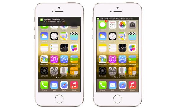 [Cydia教學]縮小iOS新通知提示, 不再阻礙螢幕空間