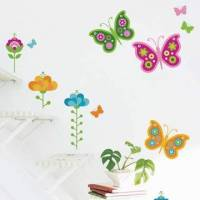 《DALI》創意無痕壁貼◆蝴蝶花園