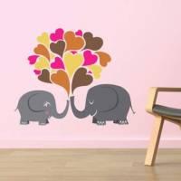 《DALI》創意無痕壁貼◆愛心大象