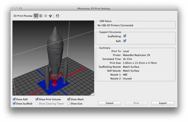 瞄準設計業界趨勢, Adobe 宣布 Photoshop CC 加入 3D 列印功能