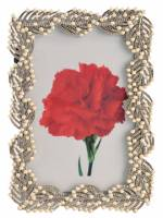 美框系列★歐洲熱賣最新設計高級金屬相框★葉子與白色珠珠質感設計