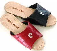e鞋院 [皮爾卡登豬皮]車線室內拖鞋