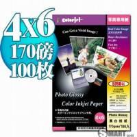 日本進口 color Jet 防水亮面噴墨相片紙 4X6 170磅 100張