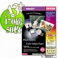 日本進口 color Jet 防水亮面噴墨相片紙 A3+ 170磅 50張