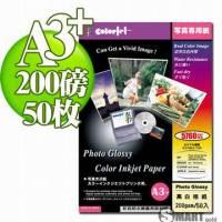 日本進口 color Jet 防水亮面噴墨相片紙 A3+ 200磅 50張