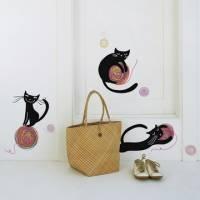 《DALI》創意無痕壁貼◆貓咪毛線球