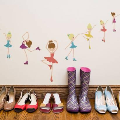 《DALI》創意無痕壁貼◆溜冰女孩