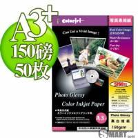 日本進口 color Jet 防水亮面噴墨相片紙 A3+ 150磅 50張
