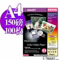 日本進口 color Jet 防水亮面噴墨相片紙 A4 150磅 100張