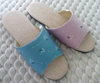 e鞋院 [粉意盎然]細麻舒適室內拖鞋 出清價