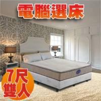 【睡眠達人SL3401】國家專利 獨立筒床墊 護背型 天絲棉 記憶綿 Q軟適中 特大雙人 MIT 送USB保暖毯
