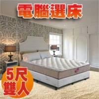 [睡眠達人-SL7002]國家專利 強化型獨立筒床墊+HR超彈力綿 標準雙人 MIT 送USB保暖毯