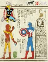 穿越時空又穿越國度的埃及風美式英雄壁畫