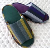 e鞋院 [幾何條紋]麂皮舒適室內拖鞋 ~強擋新品~