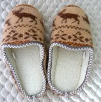 e鞋院 [踏雪尋梅馴鹿]麂皮毛織室內拖鞋