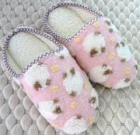 e鞋院 [溫馴小綿羊]麂皮毛織室內拖鞋