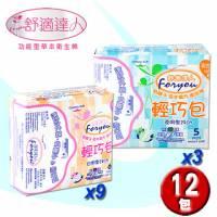 [舒適達人]草本負離子衛生棉-日用6片x9包+夜用5片x3包