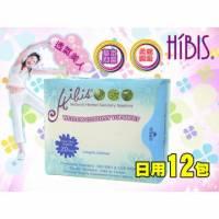 HIBIS木槿花草本超薄瞬潔3D超薄瞬潔日用-20片入 12包組