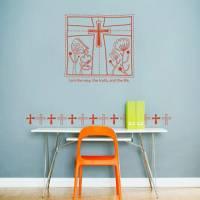 【Smart Design】創意無痕壁貼◆箴言 十字架 8色可選