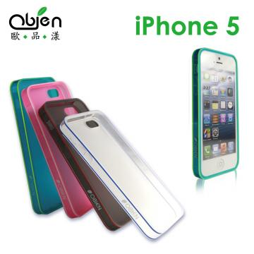 OBIEN 歐品漾Apple iPhone 5 專用TPU保護殼 (兩組套環加贈螢幕保護貼)